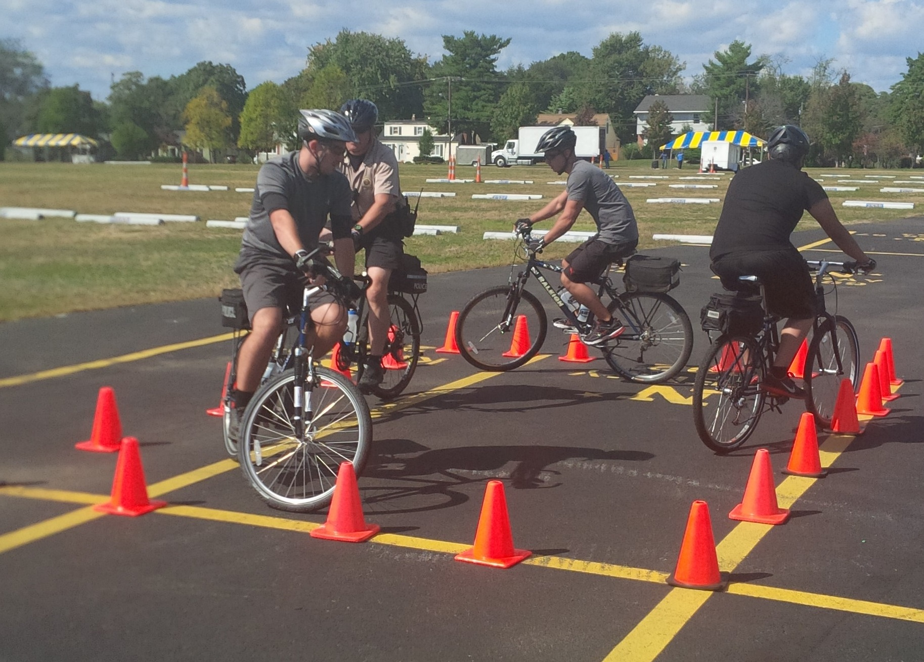 Police Officers on Bike Training